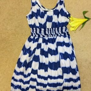 BB Dakota gauze ink blot sundress sz XS EUC